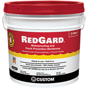 RedGard® Waterproofing and Crack Prevention